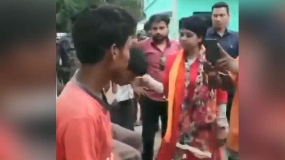 VIDEO: BJPના મહિલા ઉમેદવારની દબંગાઈ, કહ્યું-'યુપીથી 1000 લોકોને બોલાવીને પીટાઈ કરાવીશ'