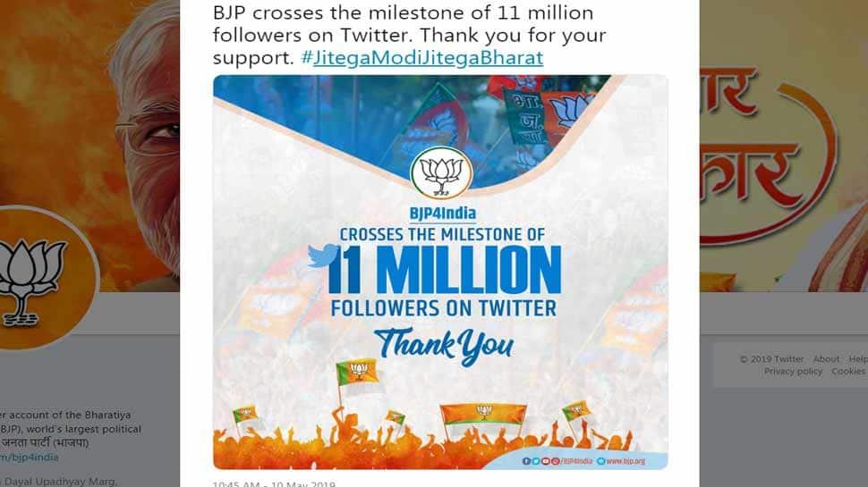 કોંગ્રેસને પાછળ છોડી BJPના ફોલોવર્સ 1 કરોડથી વધુ, ટ્વિટર પર જમાવ્યો કબ્જો