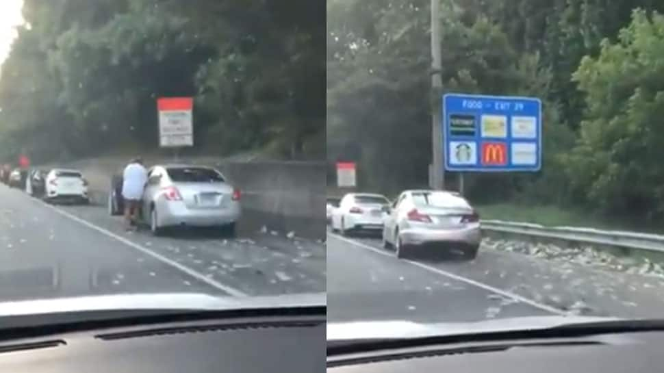 VIDEO: અમેરિકાના હાઈવે પર અચાનક થયો ડોલરનો વરસાદ, ગાડીઓ રોકીને લોકોએ લૂંટ ચલાવી