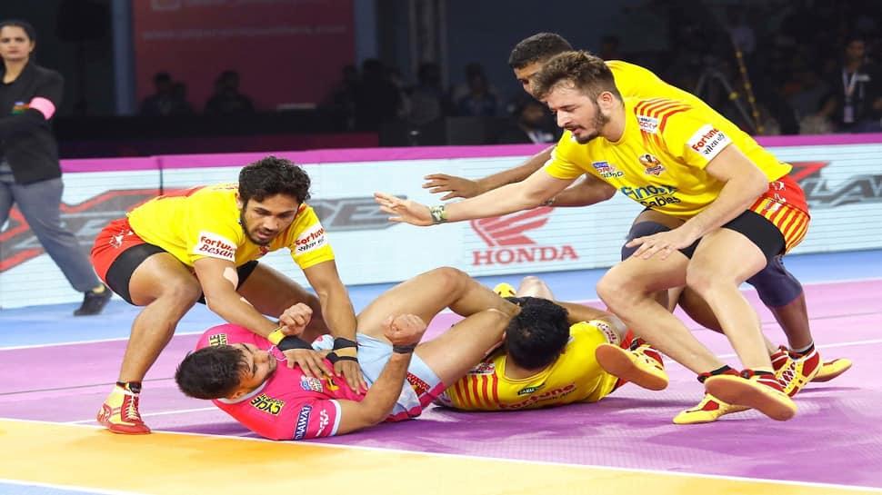 Pro Kabaddi League 2019 : ગુજરાત અને જયપુરની મેચ જોરદાર રસાકસી બાદ 28-28થી ટાઈ