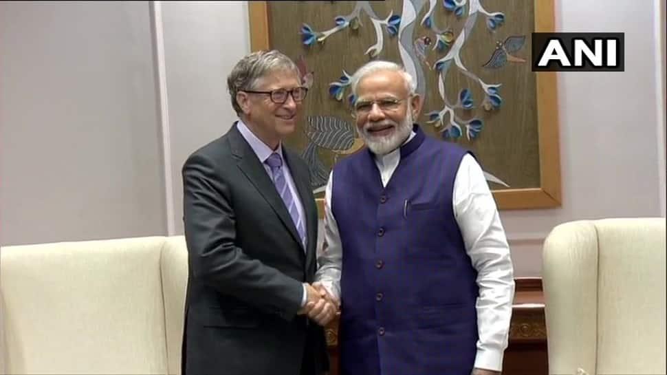ભારતીય અર્થવ્યવસ્થાના ભવિષ્યને ઉજ્જવળ ગણાવ્યા બાદ આજે વડાપ્રધાન મોદીને મળ્યા બિલ ગેટ્સ