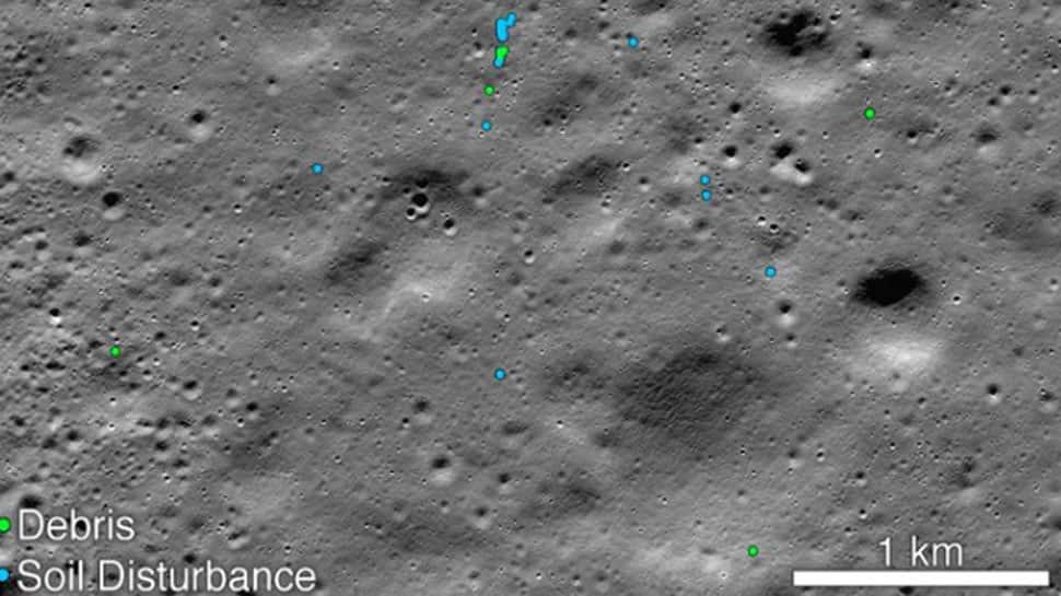 NASA એ શોધી કાઢ્યો ચંદ્રયાન-2ના 'વિક્રમ લેન્ડર'નો કાટમાળ, જાહેર કરી તસવીર