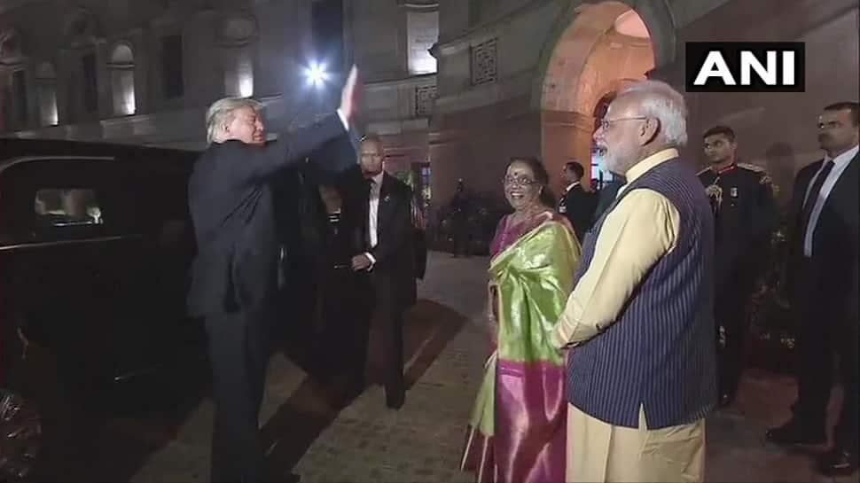 બે દિવસીય ભારતના પ્રવાસ બાદ રાષ્ટ્રપતિ ડોનાલ્ડ ટ્રમ્પ અમેરિકા રવાના