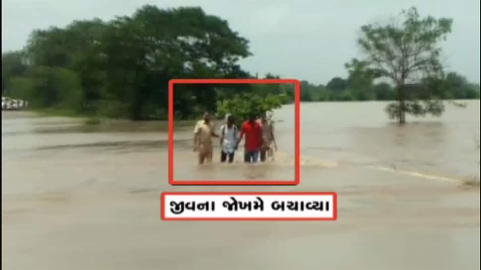 Video : આ છે ગુજરાતના અસલી જળરક્ષકો, પૂરના પાણીમાંથી લોકોને ઉગાર્યાં