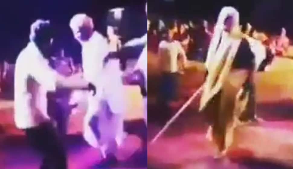 Viral Video: જાહેરમાં પતિને નાચતો જોઈ પત્ની કાળઝાળ, ડંડો લઈને મારવા દોડી, પછી જે થયું....