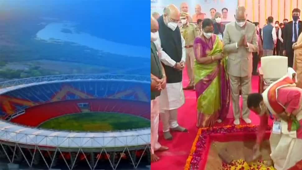 ક્રિકેટ પ્રેમીઓ ગેલમાં, રાષ્ટ્રપતિએ કર્યું વિશ્વના સૌથી મોટા મોટેરા સ્ટેડિયમનું ઉદઘાટન