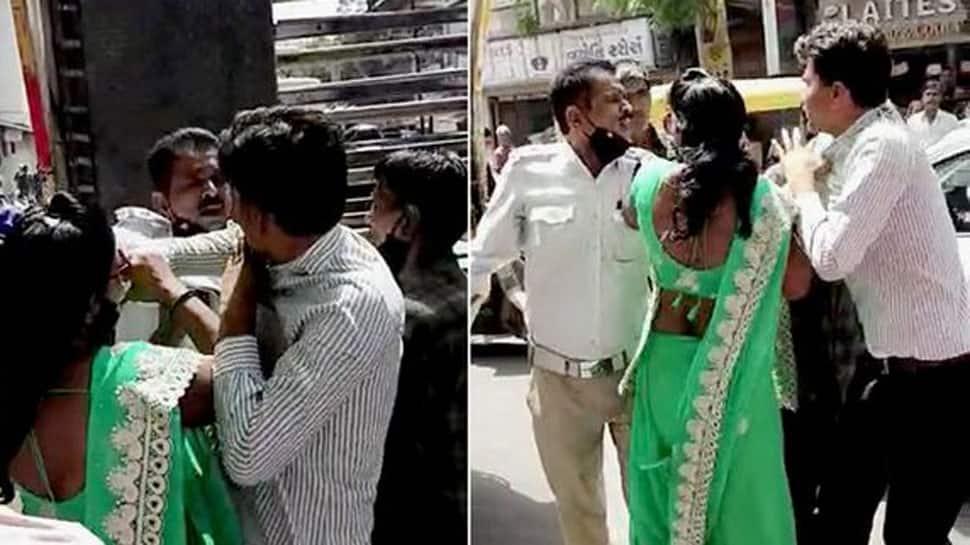 Jamnagar: સૌરાષ્ટ્રને શર્મસાર કરતો કિસ્સો, પોલીસ જવાન મહિલા સાથે જાહેરમાં ભાન ભુલ્યો
