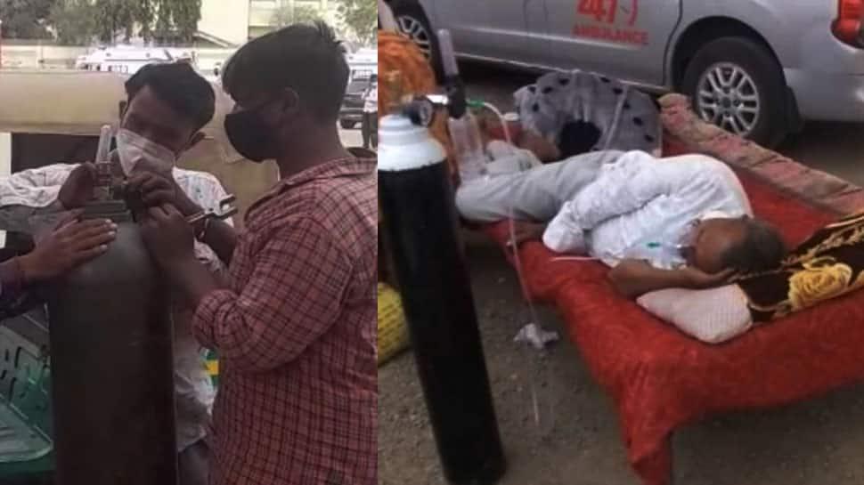 સરકારના મોઢે મોટો તમાચો - હોસ્પિટલમાં બેડ ન હોવાથી દર્દી ઘરેથી ખાટલો લઈ આવ્યા