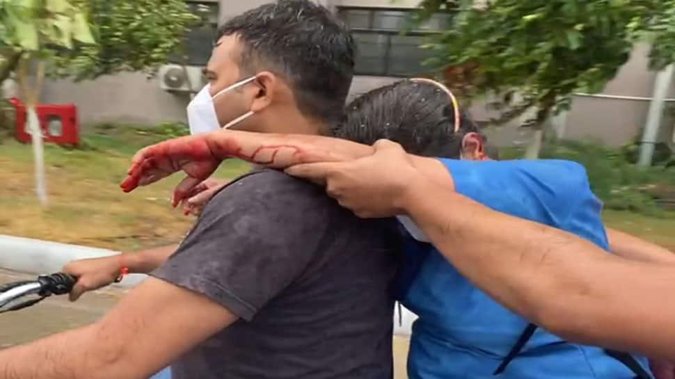 વડોદરામાં વાવાઝોડું : ભારે પવનથી ગોત્રી હોસ્પિટલની નર્સ પર કાચ તૂટી પડ્યો, ઈજાગ્રસ્ત થયા