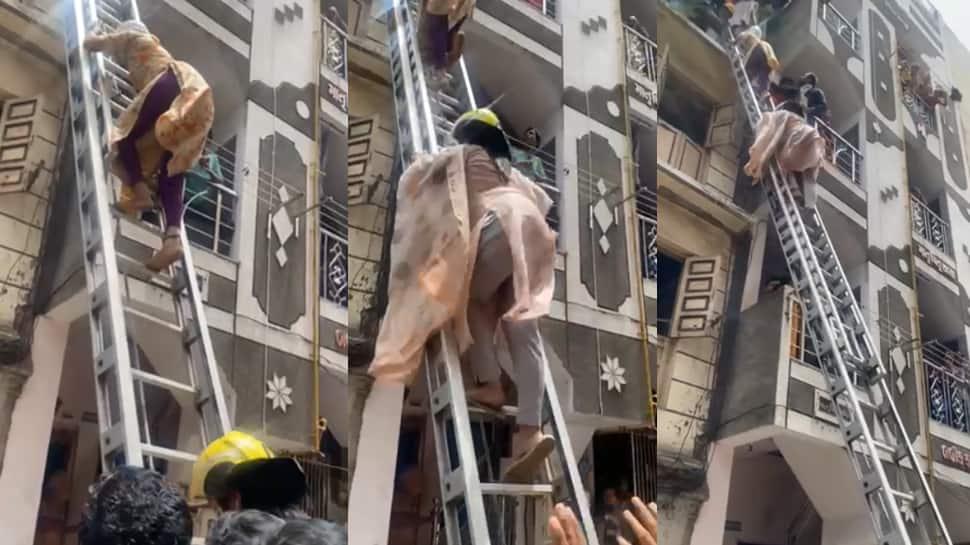Surat ના મેયરની બહાદુરીનો Video Viral, જર્જરિત ઈમારત પર ચડી ગયા અને....