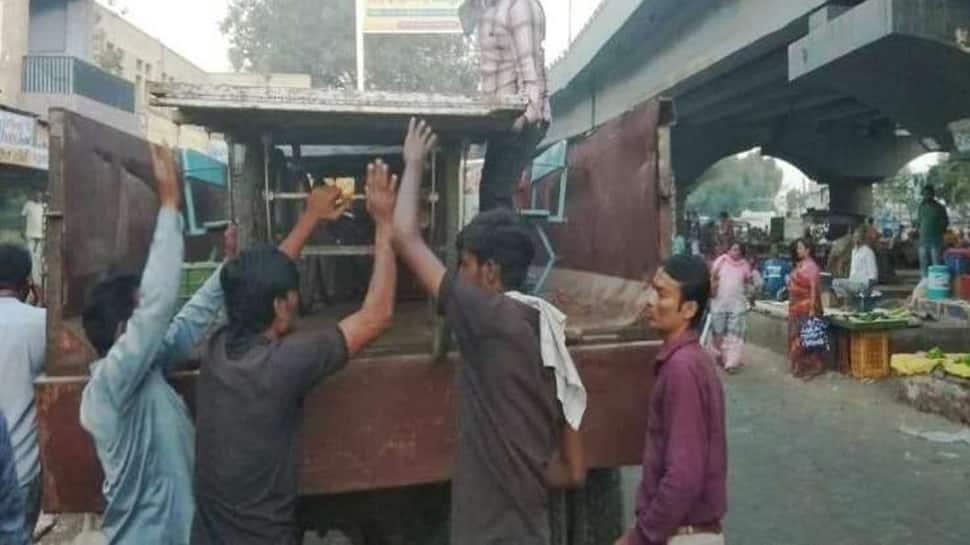 જામનગરમાં દબાણ હટાવો ઝૂંબેશ, 26 જેટલી રેકડીઓ હટાવાઇ