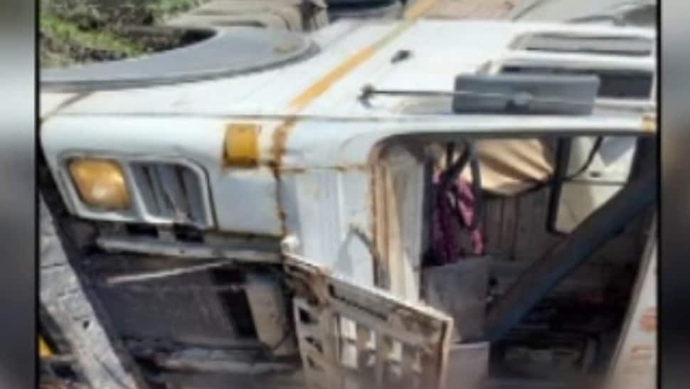 ડ્રાઈવરે કાબુ ગુમાવતા પુલ પરથી નીચે ખાબક્યો ટ્રક, એકનું મોત; એકને ઇજા
