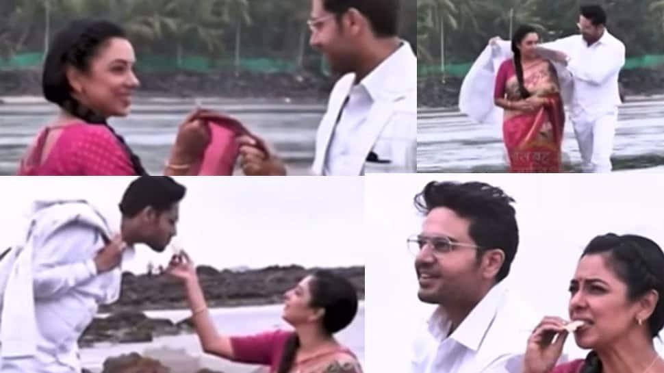 Anupama અને Anuj જુહૂ બીચ પર કર્યો રોમાન્સ, બંનેના ક્વોલિટી ટાઇમનો LEAK થયો VIDEO