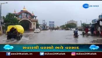 Heavy rains in Dwarka hit motorists hard, Watch
