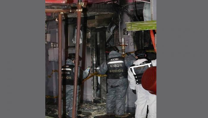 દક્ષિણ કોરિયા : મોટેલમાં રોકાવા માટે ન આપ્યો રૂમ તો ગુસ્સે થઈને લગાવી આગ, 5ના મોત