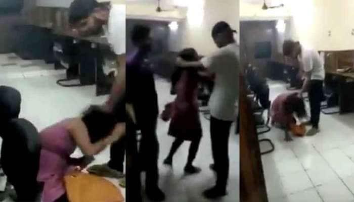 VIDEO: દિલ્હીની અત્યંત શરમજનક ઘટના, યુવકે યુવતીને ગડદાપાટુ માર માર્યો