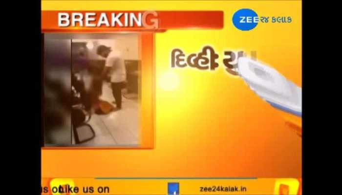 boy brutally beats a girl in delhi viral video