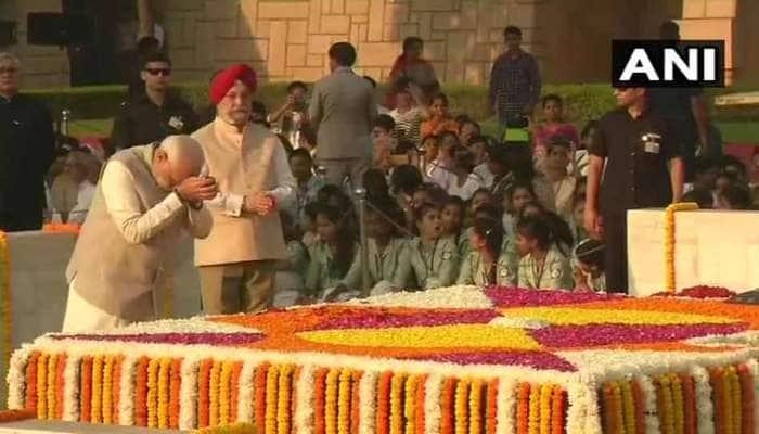 PM મોદીએ VIDEO દ્વારા બાપૂ અને શાસ્ત્રીને કર્યા યાદ, રાજઘાટ પર આપી શ્રદ્ધાંજલી