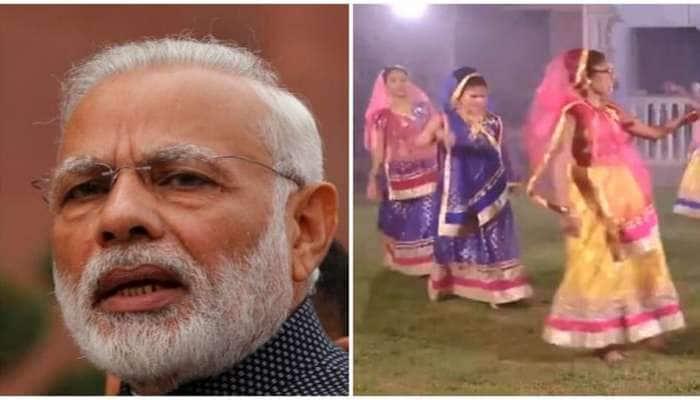 PM મોદીએ લખ્યો ગરબો, ઐશ્વર્યા મજમુદારના કંઠે ગવાયો, અને અંધ બાળકીઓ ગરબે ઝૂમી