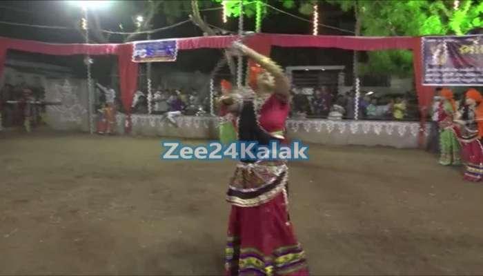 Navratri 2018 : Garba with sword by women in gujarat