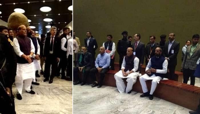 DG કોન્ફરન્સ: ગુહમંત્રી રાજનાથ સિંહ પહોચ્યા ટેન્ટ સિટી, સ્ટેચ્યુ ઓફ યુનિટીની લીધી મુલાકાત