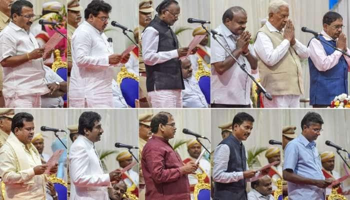 કર્ણાટકમાં મંત્રીમંડળનું વિસ્તરણ, કોંગ્રેસના 8 મંત્રીઓને કુમારસ્વામીએ કેબિનેટમાં સામેલ કર્યા