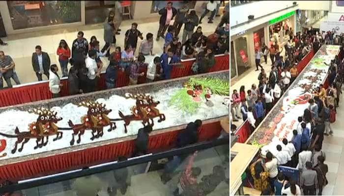 56 ફૂટ લાંબી ભારતની સૌથી મોટી કેક બની અમદાવાદમાં, બનાવ્યો અનોખો રેકોર્ડ