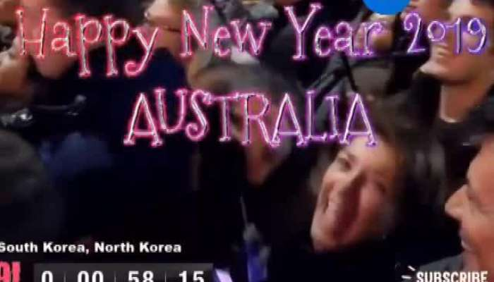 LIVE visuals of New Year celebrations from Australia