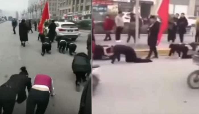 ચીન: મહિલાઓ ચિક્કાર ટ્રાફિકમાં કરી રહી છે એવું કામ, VIDEO વાઈરલ થતા થયો વિવાદ