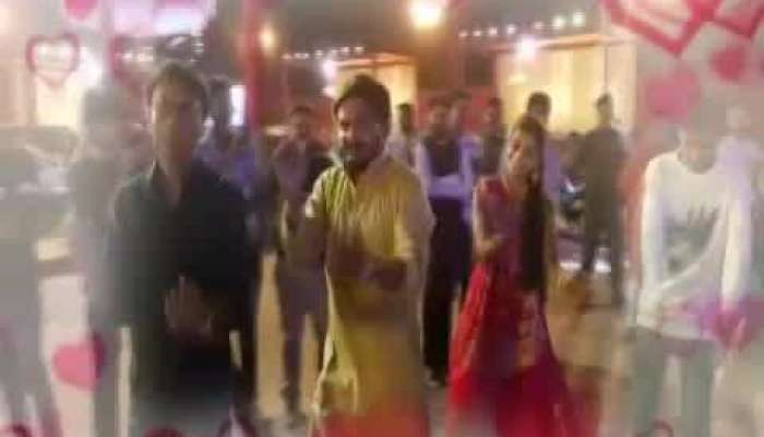 Hardik Patel playing garba with would be wife Kinjal Parikh, Video viral