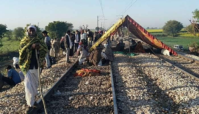 રાજસ્થાન: અનામતની માગના બીજા દિવસે પણ ગુર્જર આંદોલન શરૂ, 7 ટ્રેનનો રૂટ બદલાયો