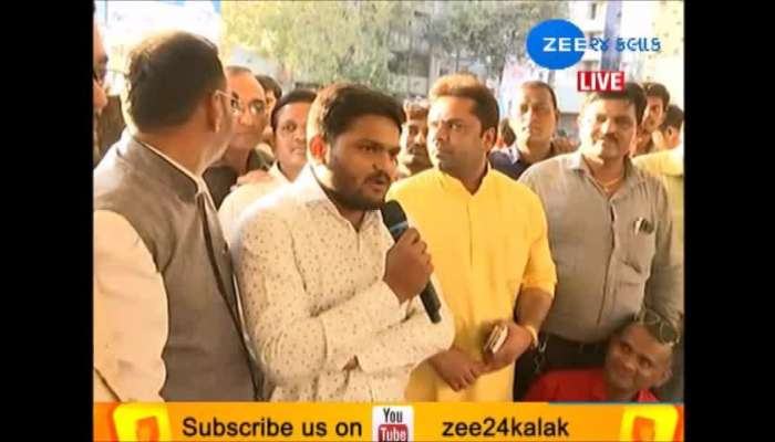 Hardik patel live from surat with gujarat ST employees on strike