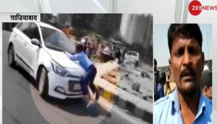 VIDEO: ગાઝિયાબાદમાં દબંગ કારચાલકે વ્યક્તિને બોનેટ પર લટકાવી 2 કિમી સુધી કાર દોડાવી