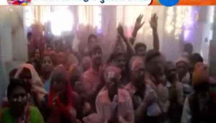 Holi Celebration at Shamlaji Temple