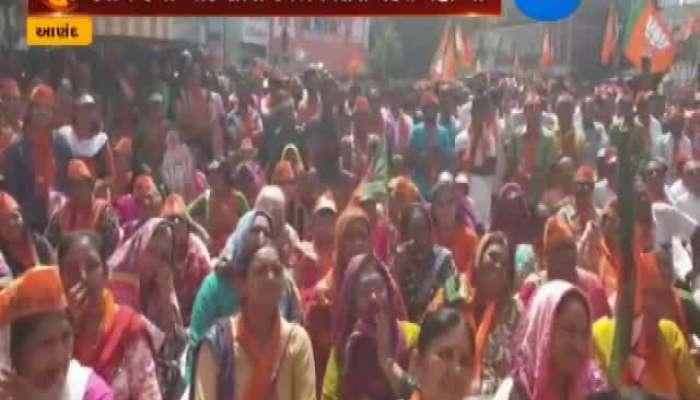 Anand BJP Candidate Mitesh Patel Road Show