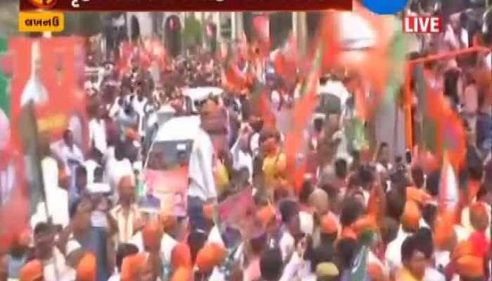 Loksabha Election 2019 Rajnath Sinh Road Show In Lakhnau