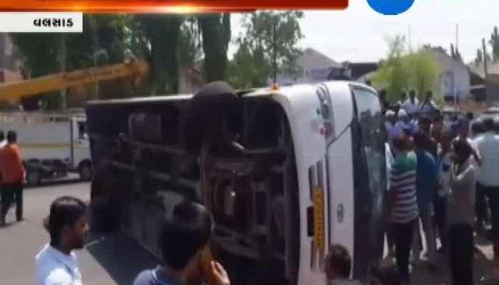 Valsad Accident Between Bus And Crane