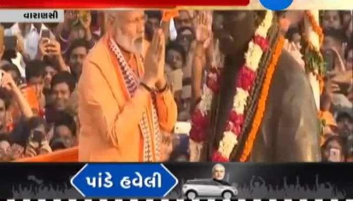 PM Narendra Modi's Mega Road Show At Varanasi