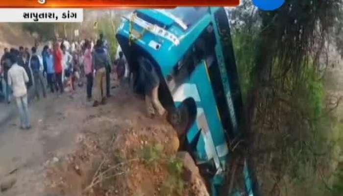 Surat to saputara bus meet accident