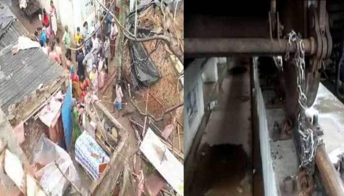 VIDEO: પ.બંગાળમાં જોવા મળી રહી છે 'ફાની'ની અસર, મકાન ધસી પડ્યું, સાંકળથી બાંધવી પડી ટ્રેન