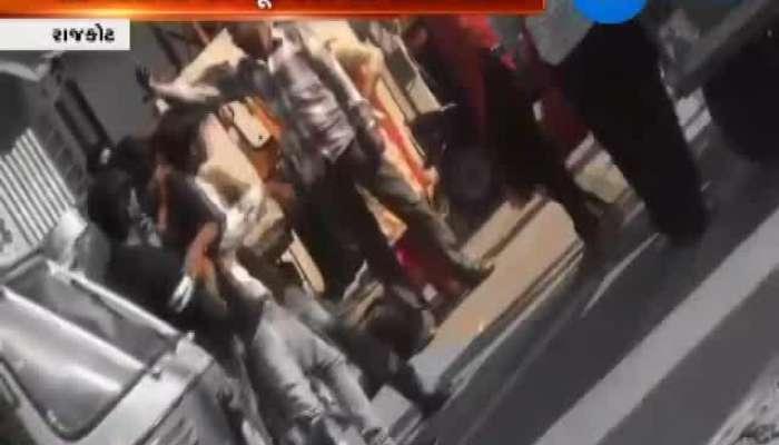 Rajkot Group Beat Man For Harassing Woman Video Viral