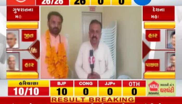 Loksabha Election 2019 results live: Vinod Chavda Winning Interview