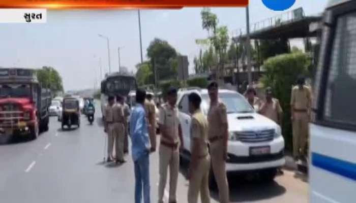 Hardik Patel Taken to Police Station in Surat