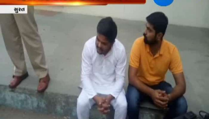 Surat: Hardik Patel Sits Out on Dharna in Front of Police Station