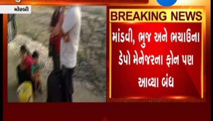 Morbi: ST Bus Travellers left Stranded on Road