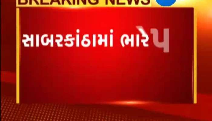 Rainfall damage with heavy winds in Sabarkantha