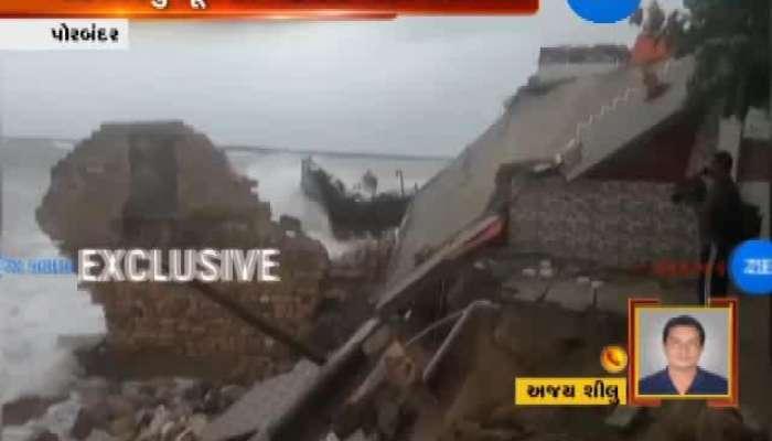 Porbandar: Temple Collapses