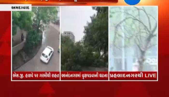 Rain in Parts of Gujarat