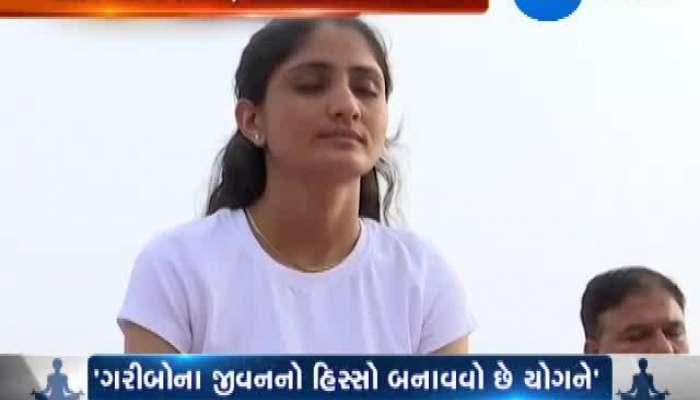 Ahmedabad celebrate world yoga day with zeal