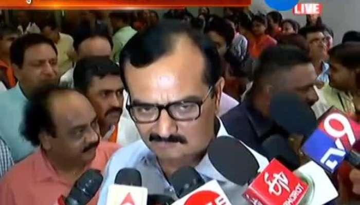 BJP CANDIDATE REACH VIDHANSABHA TO FILL FORM FOR RAJYSABHA ELECTION